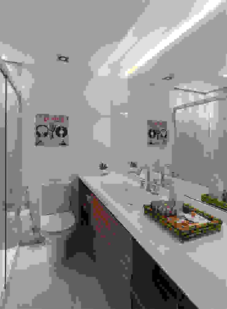 MANDRIL ARQUITETURA E INTERIORES Modern bathroom