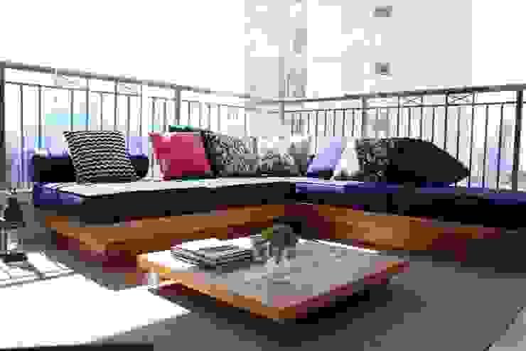 Ap Brooklin 03 Varandas, alpendres e terraços modernos por Mariana Dias Arquitetura Moderno