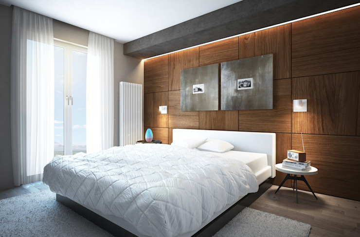 Modern style bedroom by Beniamino Faliti Architetto Modern