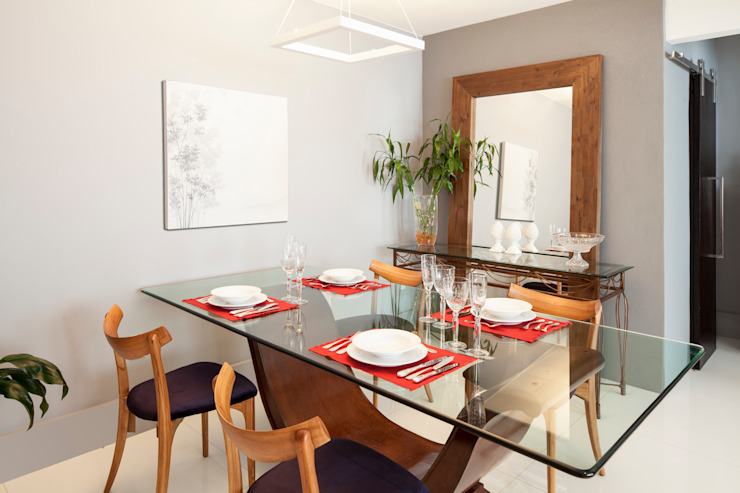 303 Apartment Modern Dining Room by Estúdio Barino | Interiores Modern