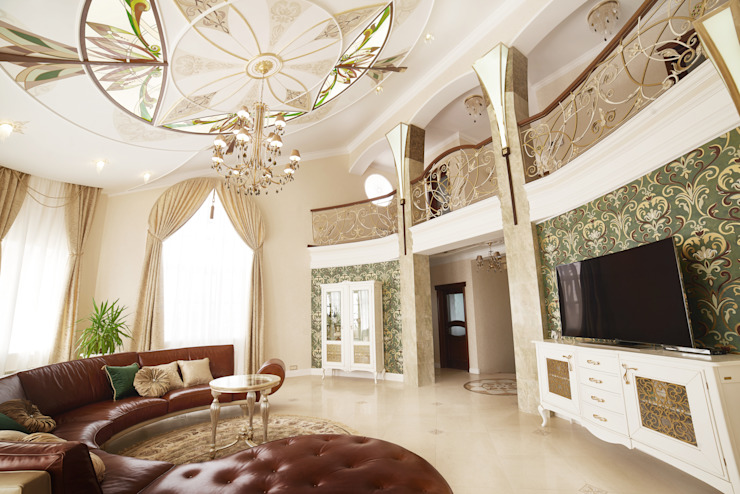 ООО 'Архитектурное бюро Доценко' Eclectic style living room