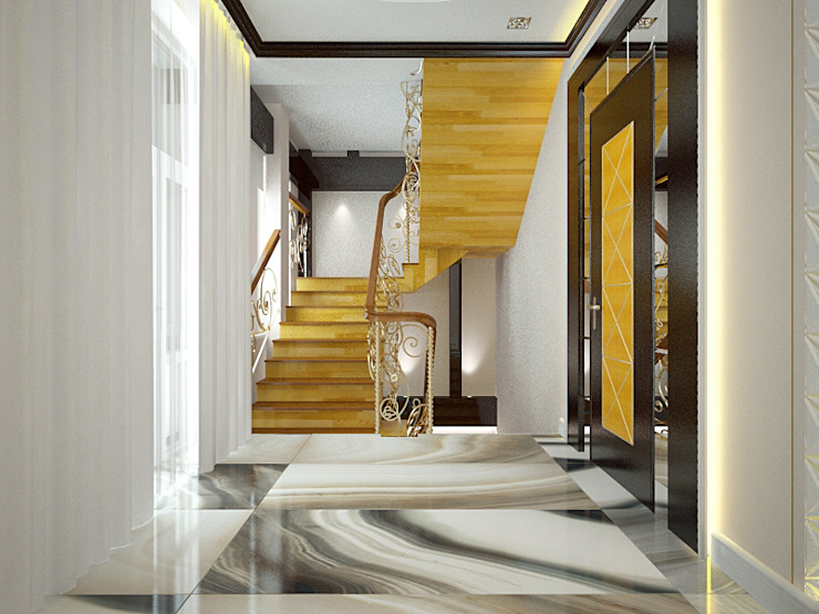 Шик 2 Коридор, прихожая и лестница в эклектичном стиле от Дизайн студия Александра Скирды ВЕРСАЛЬПРОЕКТ Эклектичный