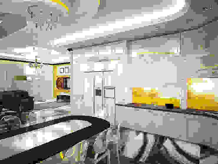 Шик 2 Кухни в эклектичном стиле от Дизайн студия Александра Скирды ВЕРСАЛЬПРОЕКТ Эклектичный