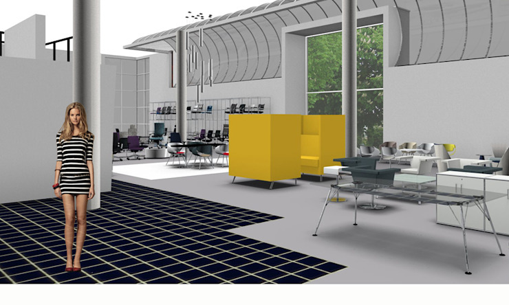 Dauphin showroom van Bos in 't Veld Architecten Minimalistisch