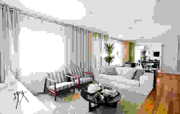 Sala de Jantar Salas de estar modernas por Cavalcante Ferraz Arquitetura / Design Moderno