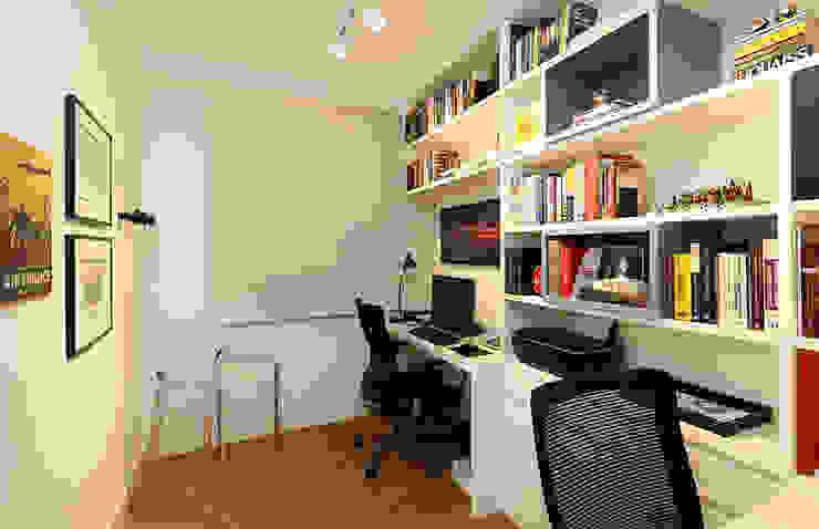 Modern Çalışma Odası Casa 2 Arquitetos Modern