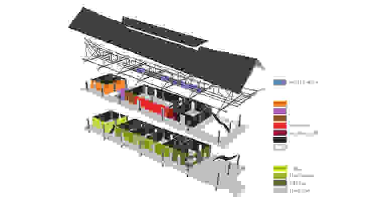 LONGHOUSE TEMBAK van Bos in 't Veld Architecten Tropisch