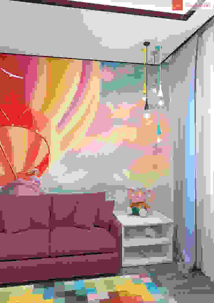 Яркие мечты Детская комнатa в скандинавском стиле от RogovStudio Скандинавский