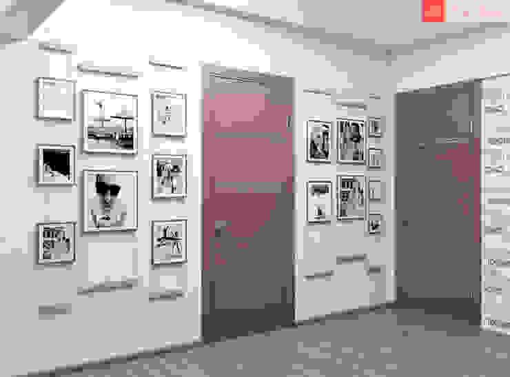 Яркие мечты Коридор, прихожая и лестница в стиле минимализм от RogovStudio Минимализм