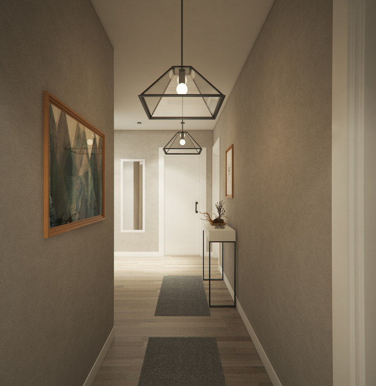 現代風玄關、走廊與階梯 根據 yücel partners 現代風