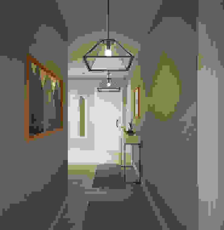 yücel partners 現代風玄關、走廊與階梯