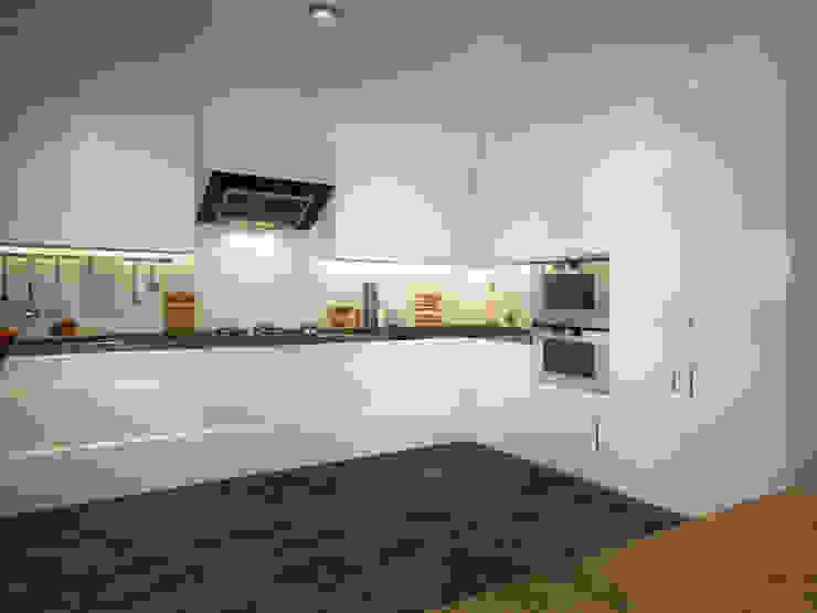 現代廚房設計點子、靈感&圖片 根據 yücel partners 現代風