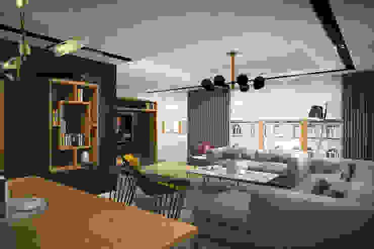 yücel partners 现代客厅設計點子、靈感 & 圖片