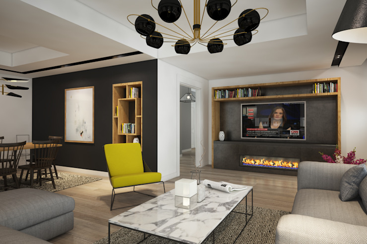 Living room by yücel partners, Modern