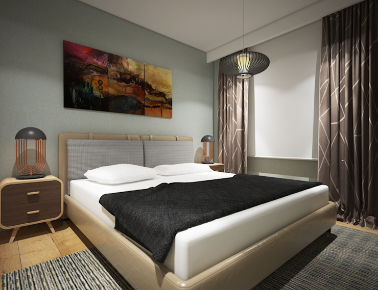 Villa Taşbaşı İskandinav Yatak Odası yücel partners İskandinav