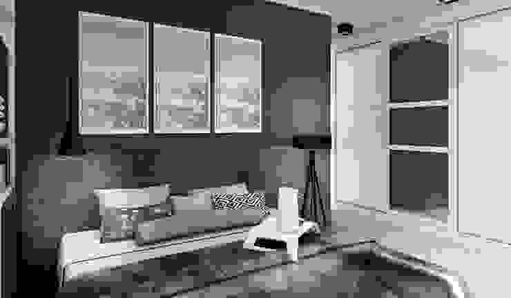 """Дизайн-проект """"Скандинавская зима"""" Спальня в скандинавском стиле от Дизайн-студия HOLZLAB Скандинавский"""