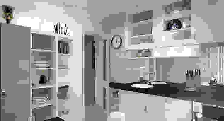 """Дизайн-проект """"Скандинавская зима"""" Кухня в скандинавском стиле от Дизайн-студия HOLZLAB Скандинавский"""