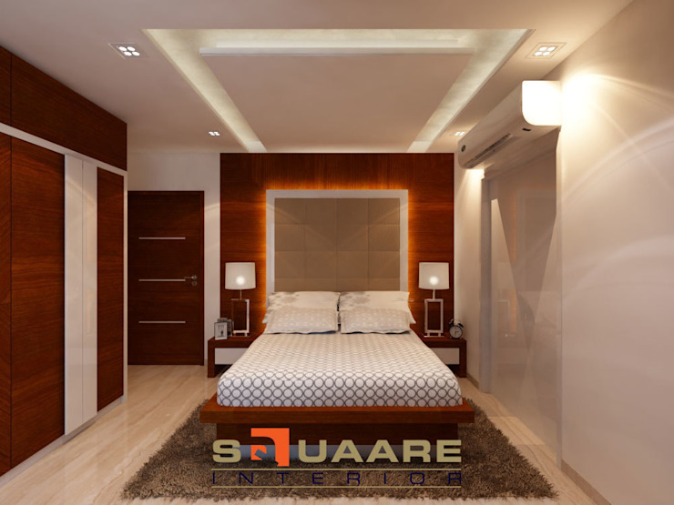 Residence at Khar. Conpect Art. Modern style bedroom by Squaare Interior Modern