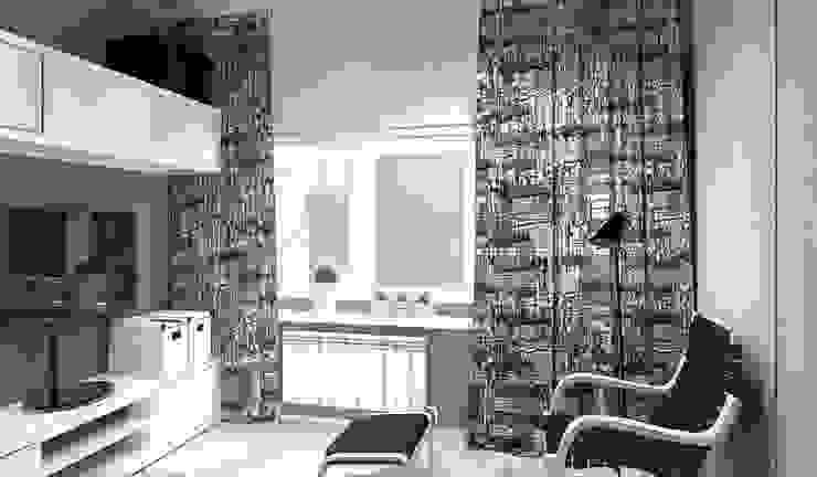 """Дизайн-проект """"Скандинавская зима"""" Рабочий кабинет в скандинавском стиле от Дизайн-студия HOLZLAB Скандинавский"""