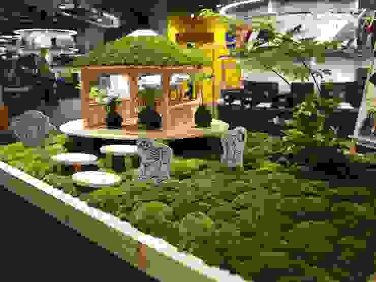 苔と小屋とイラストを配した枡庭 オリジナルな商業空間 の SUNIHA UNIHA(サニハユニハ) オリジナル