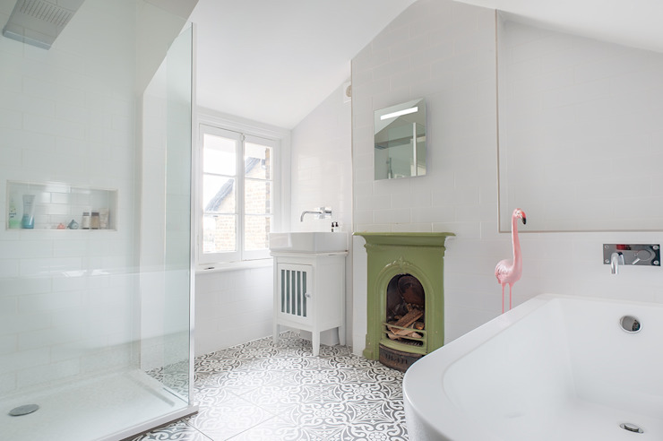 Full House Renovation with Crittall Extension, London HollandGreen Bagno eclettico