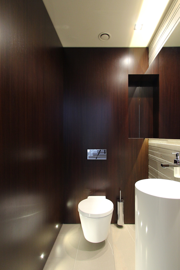 Dom jednorodzinny w Chybach Nowoczesna łazienka od Studio Nomo Nowoczesny