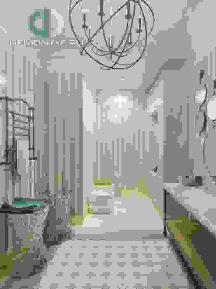 "Дизайн-студия ГК ""Фундамент"" Ванная комната в скандинавском стиле от Группа Компаний 'Фундамент' Скандинавский"