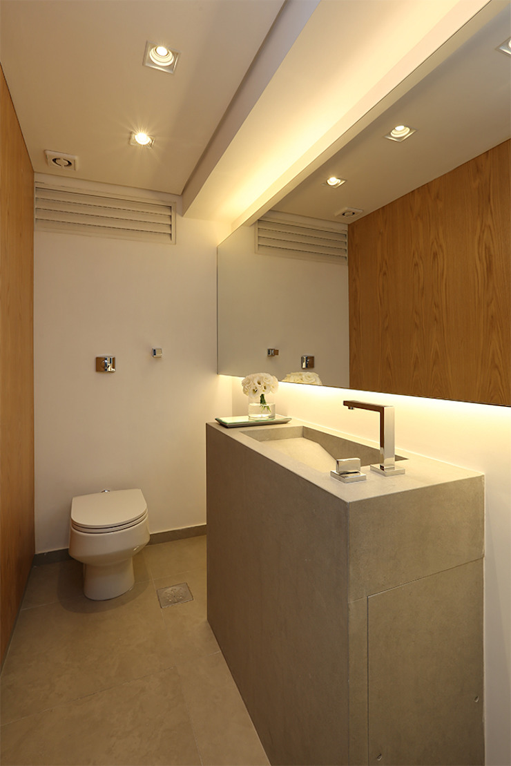 Lavabo Banheiros modernos por Casa 2 Arquitetos Moderno