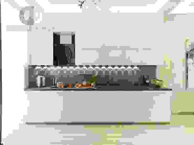 """Студия дизайна ГК """"Фундамент"""" Кухня в стиле минимализм от Группа Компаний 'Фундамент' Минимализм"""