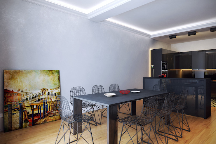 Дом для отдыха в Ялте Столовая комната в эклектичном стиле от Перспектива Дизайн Эклектичный