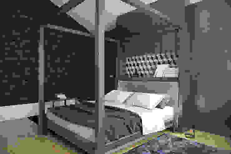Дом для отдыха в Ялте Спальня в эклектичном стиле от Перспектива Дизайн Эклектичный