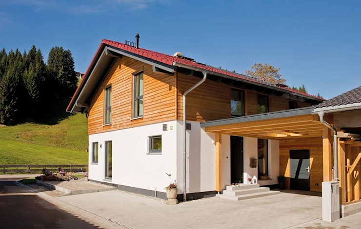 Country house by FingerHaus GmbH - Bauunternehmen in Frankenberg (Eder), Country