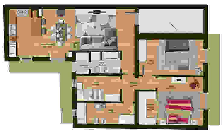 Paredes y pisos de estilo moderno de Beniamino Faliti Architetto Moderno