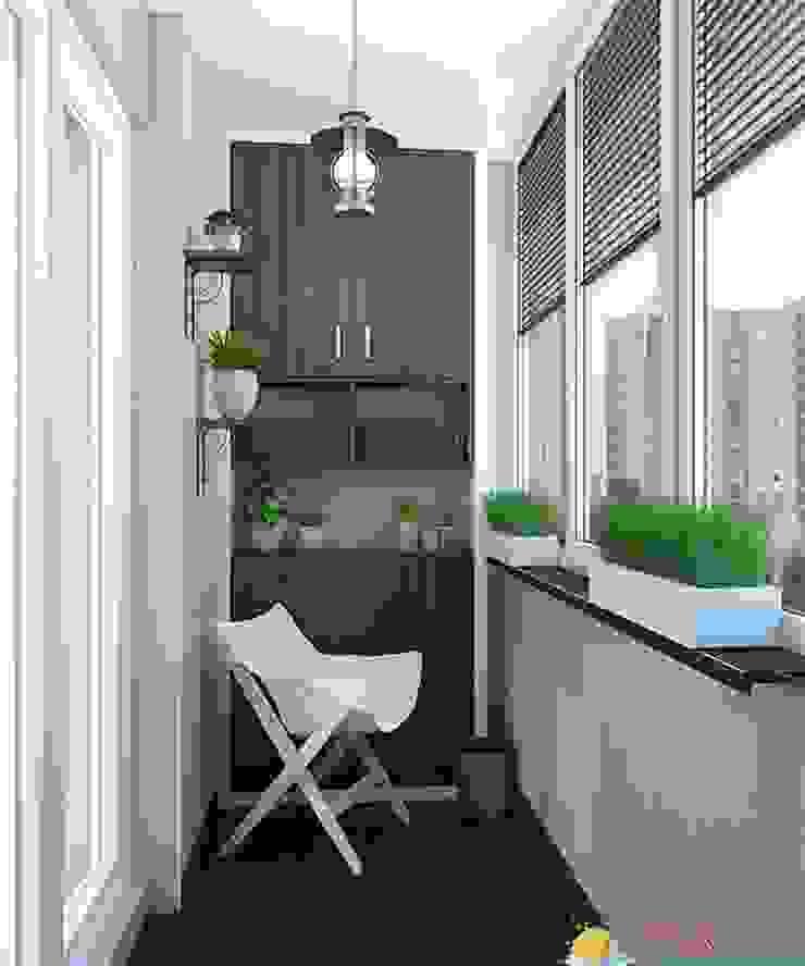 Проект 3к.кв ЖК Галант Балкон и терраса в классическом стиле от MoRo Классический