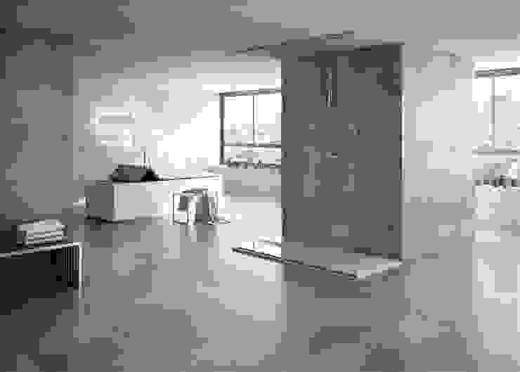 Gres porcelánico modelo TEKNO Baños de estilo minimalista de INTERAZULEJO Minimalista