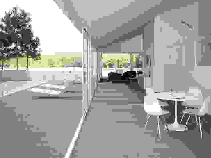 INTERAZULEJO Balkon, Beranda & Teras Minimalis