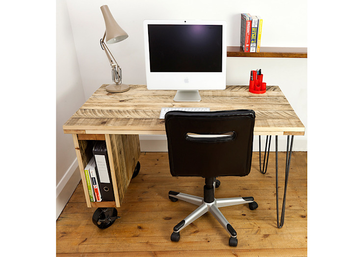 Industrial office Desk: industrial  by swinging monkey designs, Industrial
