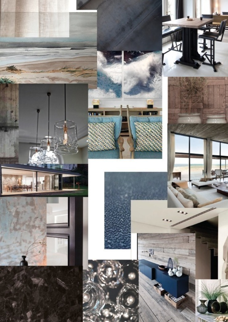 Sfeer Collage van Medie Interieurarchitectuur Landelijk