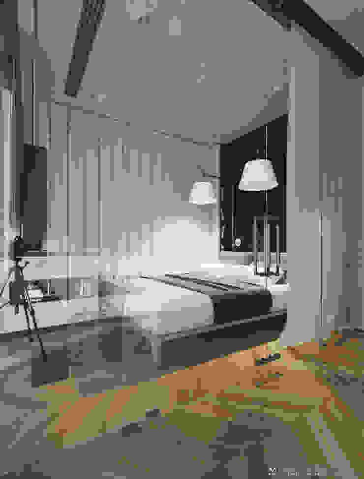 009 Спальня в стиле модерн от Aksenova&Gorodkov project Модерн