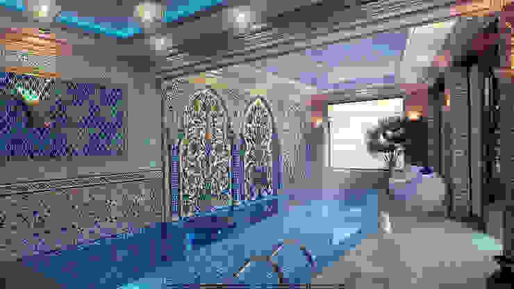 Бассейн в доме Бассейн в азиатском стиле от Architoria 3D Азиатский