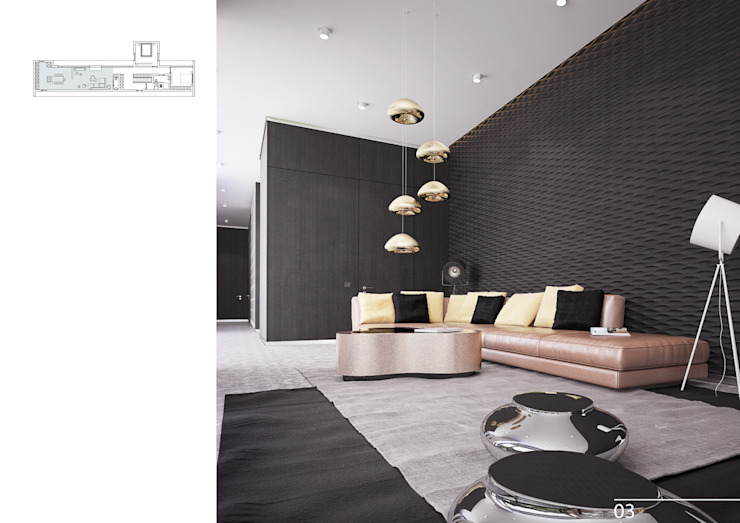 004 Гостиная в стиле модерн от Aksenova&Gorodkov project Модерн