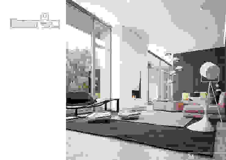 005 Гостиная в стиле модерн от Aksenova&Gorodkov project Модерн
