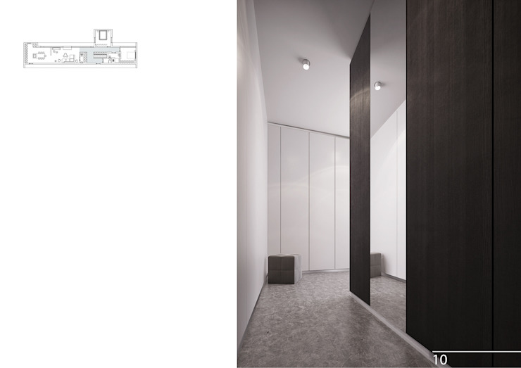 011 Коридор, прихожая и лестница в модерн стиле от Aksenova&Gorodkov project Модерн