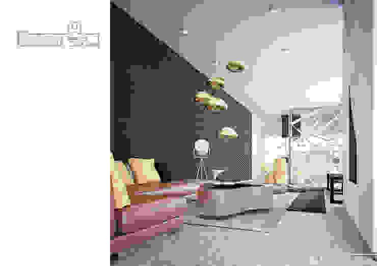 002 Гостиная в стиле модерн от Aksenova&Gorodkov project Модерн