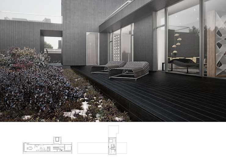 024 Балкон и терраса в стиле модерн от Aksenova&Gorodkov project Модерн