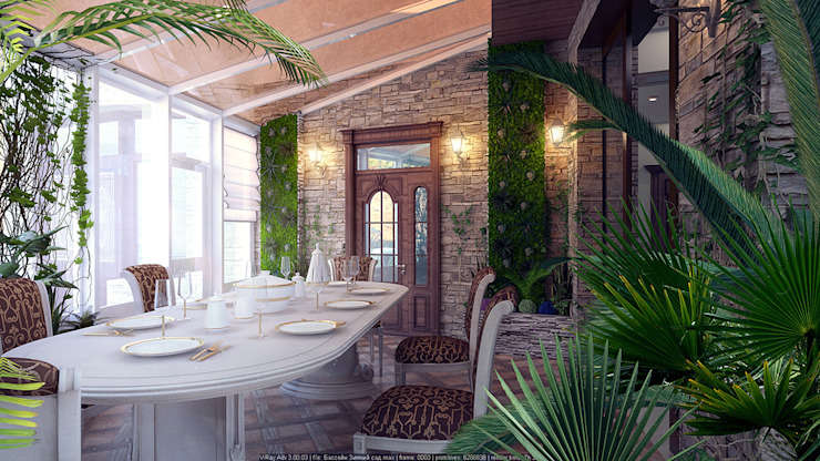 Akdeniz Kış Bahçesi Architoria 3D Akdeniz