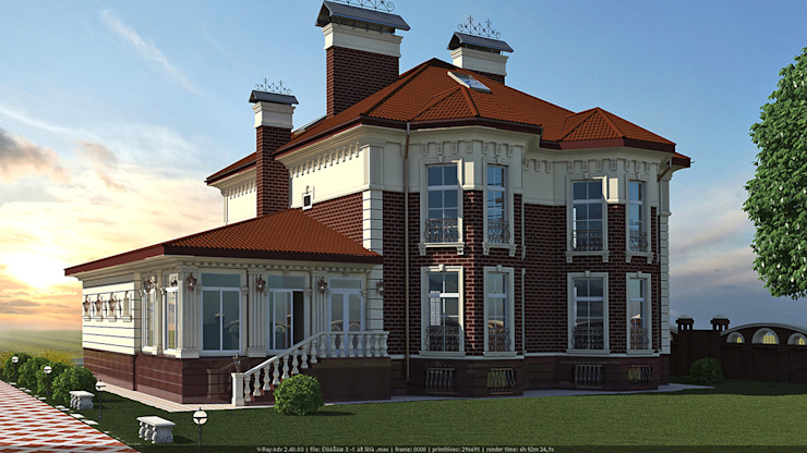 Дом в классическом стиле Дома в классическом стиле от Architoria 3D Классический