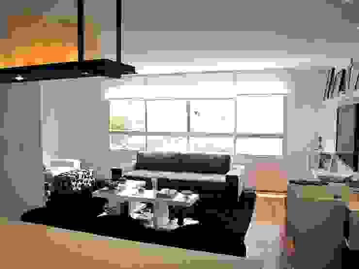 vista sala de estar Salas de estar modernas por Arquitetura Juliana Fabrizzi Moderno