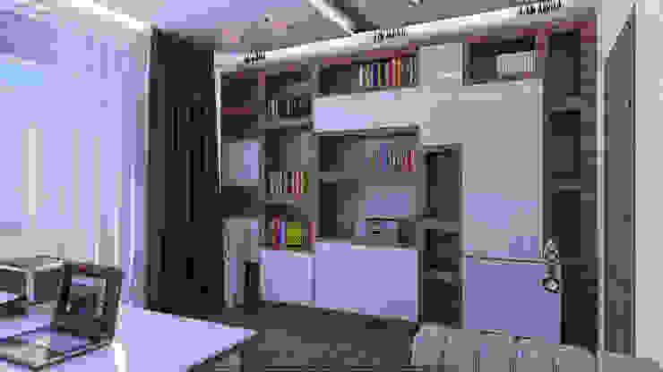 Кабинет Рабочий кабинет в стиле минимализм от Architoria 3D Минимализм