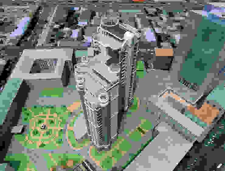 Дом многоэтажный Офисы и магазины в эклектичном стиле от Architoria 3D Эклектичный